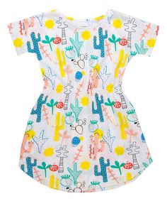 Look at this Wakamono Teal Stacy Organic Dress - Infant, Toddler & Kids on today! City Style, My Baby Girl, Infant Toddler, Toddler Girls, Organic Cotton, Print Patterns, Kids Fashion, Teal, Summer Dresses
