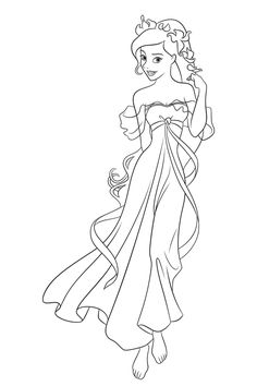 Ella Enchanted Coloring Pages For Kids