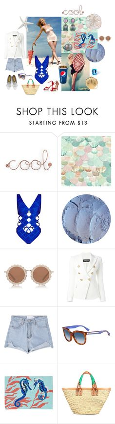 """""""Cool"""" by sarahhughes-net ❤ liked on Polyvore featuring Umbra, Lanvin, Charlotte Olympia, Hervé Léger, House of Holland, Balmain, Fendi and Balenciaga"""