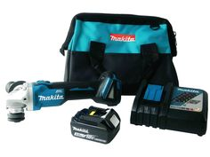 Makita 18V XAG03Z Grinder BL1830B 3 Ah Battery Pack DC18RC Charger Bag