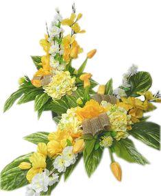 KOMPLET WIOSENNY STROIK NA GRÓB IKEBANA WIELKANOC (7183037823) - Allegro.pl - Więcej niż aukcje. Creative Flower Arrangements, Floral Wreath, Wreaths, Flowers, Plants, Decor, Floral Arrangements, Flower Arrangements, Floral Crown