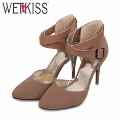 c6898bc38 Fashion Cross Ankle Strap Pointed toe Red Bottom Sandals 2015 Brand Sexy  Thin High Heels Sandals