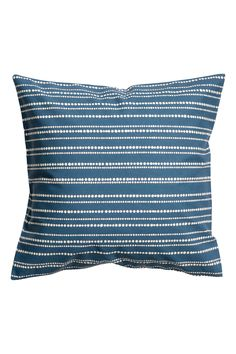 Cotton cushion cover - Blue/Striped - Home All | H&M 1