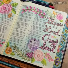 #HappySabbath  Tiffany's Garden Paper Crafts, Digital Stamps, Hand Made Cards, Country Living: bible journaling http://www.sdahymnal.net/