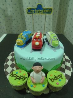 Chuggington cake, via Flickr.