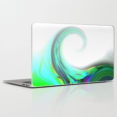 Re-Created  Tsunami SIX Laptop & iPad Skin by Robert S. Lee - $30.00