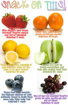 Fruit as snack.
