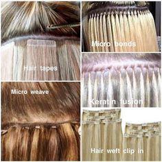 types of hair extensions #tomybsalon https://tomybsalon.com/