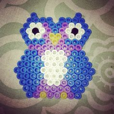 Owl hama beads by tanzillaattack