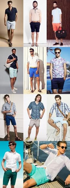 If your going to wear shorts; Keep this little chart handy for the rest of the summer. This summer will be all about bright shorts! Summer Wear, Spring Summer Fashion, Summer Time, Casual Wear, Men Casual, Smart Casual, Moda Fashion, Fashion Tips, Fashion Photo