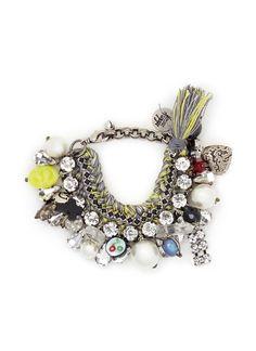 VENESSA ARIZAGA 'Verde Guineos' bracelet