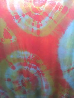 Double tie dye with Dylon colours on 100% cotton fabric.