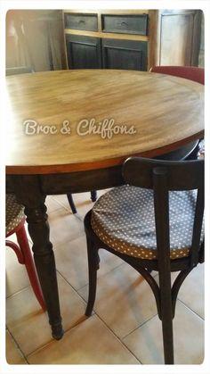 J'ai enfin trouvée MA  table de salle à manger !!   Pourtant elle ne donne pas très envie ...   Elle irait mieux chez mes grands parents. ...