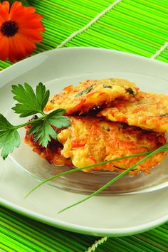Carrot & Zucchini Vegetable Pancakes