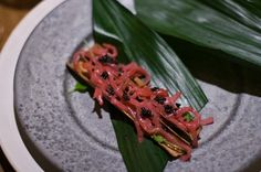 steak tartare B.C.  (those are individual strands of beef muscle fiber garnished with caviar)