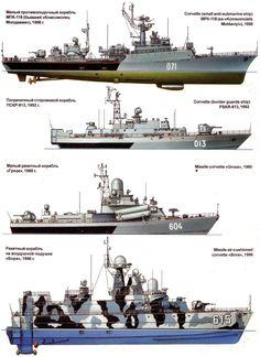 Corbetas 1980-1998, Rusia