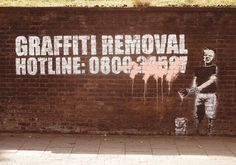 Banksy Street Art - Graffity Removal Hotline Poster | Sold at Europosters