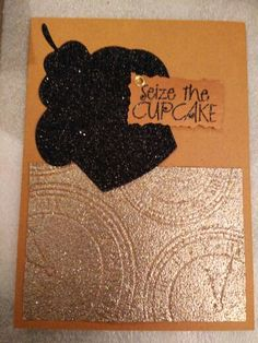 Reverse embossing, male birthday card