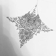 Delicate little sternum for Vi #tattoo #tattoodesign #mandala #mehndi #underboobtattoo by oliviafaynetattoo http://ift.tt/1JhvuYA
