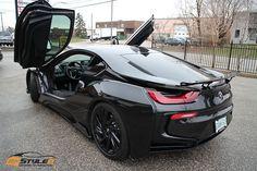 Gloss Black BMW I8 | Vinyl Car Wrap | Car Wraps in Toronto, Montreal, Miami | RESTYLEITWRAPS.COM