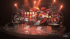 stage design for rock concert on Behance