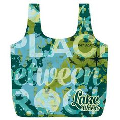 Lake of the woods, Green, Bag, reusable, XLarge, Map ★ Every item you buy from Friends of Lake of the Woods Gift Shop directly supports worthwhile local causes. The more you buy, the more you give.