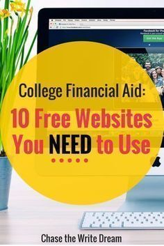 College Financial Aid: 10 Websites You NEED to Use! These websites provide education on grants, scholarships, student loans, and other types of financial aid. Includes information for how college students can get MORE money for school as well. Grants For College, Financial Aid For College, Online College, Scholarships For College, College Hacks, Education College, College Life, College Students, College Ready