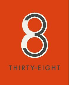 Thirty-Eight is an apartment complex. This logo has the 3 being a part of the 8 showing the 38. It's a simple idea, but also creative