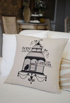 'Hope Is' Pillow Cover by Dear Lizzie