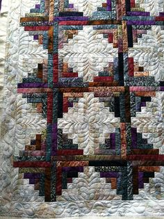 Detail to quilt my batik log cabin!
