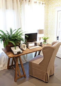 tiny home Office space - if you're using it for long periods, get a better chair though