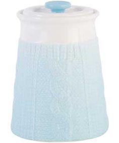 Buy Chunky Knit Storage Jar - Sky at Argos.co.uk, visit Argos.co.uk to shop online for Food storage