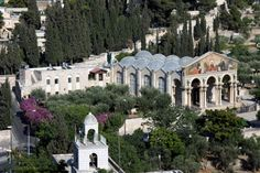 The Garden of Gethsemane is located east of the Temple Mount, and east of the Kidron Valley, on the lower portion of the western slope of the Mount of Olives.    After his final meal with his disciples, Jesus retired to this garden to pray (Matt 26:30-56; Mark 14:26-52; Luke 22:39-53; John 18:1-12). It was here that the disciples slept while Jesus prayed and it is here that he was captured and led away to be crucified.