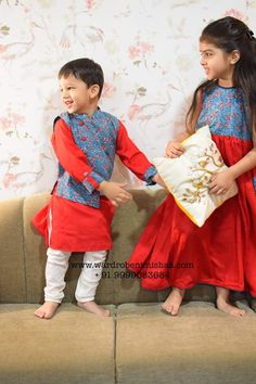Baby Boy Outfits, Kids Outfits, Boy Dress, Brother Sister, Inu, Bridal Lehenga, Indian Designer Wear, Kids Wear, Kids And Parenting