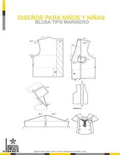 Manual de patronaje CMT - SENA Kids Dress Patterns, Clothing Patterns, Sewing Patterns, Pattern Drafting Tutorials, Modelista, Check Fabric, Mode Masculine, Pants Pattern, Fashion Sewing