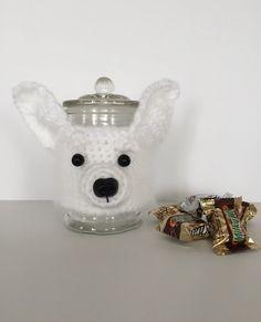 Chihuahua Treat Jar/Chihuahua Cozy/Dog Cozy/Dog by HookedbyAngel