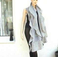 FREE SHIPPING Nuno felted shawl large scarf wool by MajorLaura