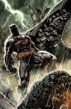 Batman Eternal #1 by Jason Fabok and Tomeu Morey
