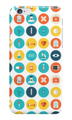 Medical Modern Icon Pattern iPhone case by junkydotcom - Feb 29
