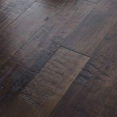 "6-3/8"" Engineered Handscraped Maple Flooring in Bar Harbor Brown"