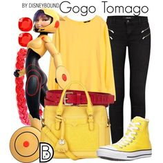 Gogo Tomago by leslieakay on Polyvore featuring H&M, J Brand, Converse, Nica, Kate Spade, Domo Beads, Liz Claiborne, disney, disneybound and disneycharacter Disney Character Outfits, Disney Themed Outfits, Disneyland Outfits, Character Inspired Outfits, Disney Dresses, Disney Clothes, Disney Bound Outfits Casual, Movie Outfits, Disney Inspired Fashion