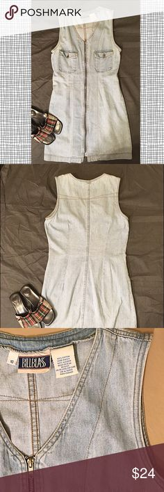Spotted while shopping on Poshmark: 💐Vintage Bill Blass Light Blue Denim Shift Dress! #poshmark #fashion #shopping #style #Bill Blass #Dresses & Skirts