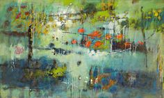 Dependent Arising | oil on canvas | 30 x 50"