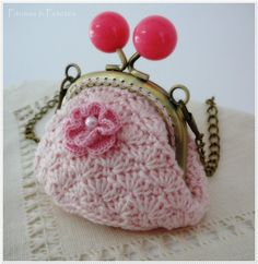 Monedero // Bolso de ganchillo Bag // Crochet coin purse