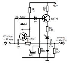 Guitar distortion schematic Electronic schematics