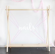 Wooden Diy Clothes Rack Wood - Diy Wooden Clothing Rack In 10 Yes 10 Minutes Wooden Clothes Handmade Wooden Clothes Rack Removable This Sturdy Clothes Rack Diy Wooden Clothing Rack . Wood Clothing Rack, Wooden Clothes Rack, Kids Clothing Rack, Wooden Rack, Diy Clothing, Wooden Diy, Clothing Stores, Baby Clothes Storage, Clothes Refashion