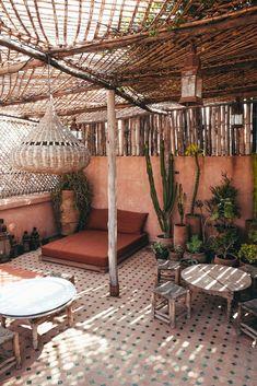 Outdoor Spaces, Outdoor Living, Outdoor Decor, Exterior Design, Interior And Exterior, Dream Garden, Home And Garden, Bohemian Patio, Moroccan Interiors