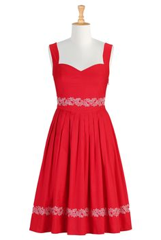 Fit And Flare Dresses, Embroidered Dresses Women's short dresses - Evening dresses, cocktail, prom dresses | eShakti