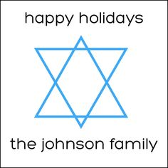 Star of David Personalized Holiday Labels by #GothamPops on Etsy