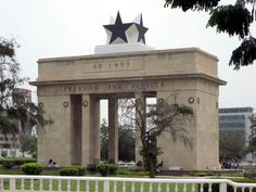 The Black Star Gate on Independence Square, Accra, commemorates the 1957 independence of Ghana. Capital Of Ghana, Accra, Stargate, Black Star, West Africa, Gazebo, Outdoor Structures, Africans, News Stories